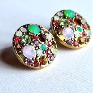 Womens Vintage Colourful Round Fashion Earrings